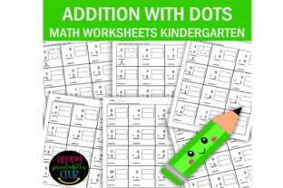Addition with Dots for Kindergarten Graphic K By Happy Printables Club