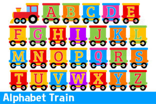 Alphabet Train Clipart Graphic Illustrations By magreenhouse