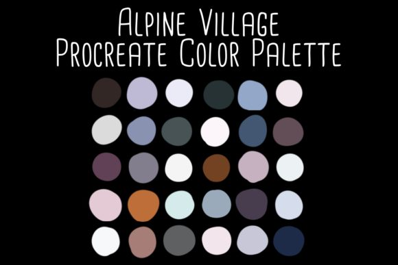 Print on Demand: Alpine Village Procreate Color Palette Graphic Add-ons By RoughDraftDesign