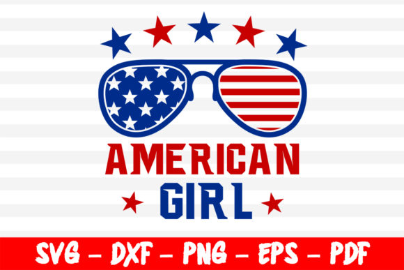 Download Free American Girl 4th Of July Cut Files Graphic By Bestsvgfiles SVG Cut Files