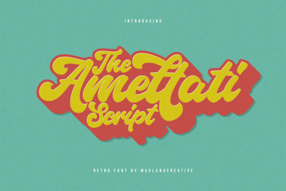 Print on Demand: Amettati Display Font By Maulana Creative