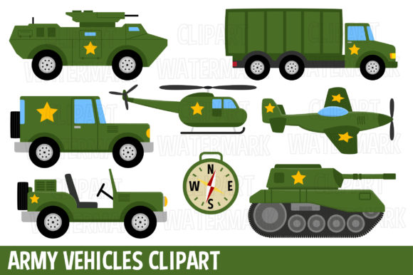 Army Clipart Graphic Illustrations By magreenhouse