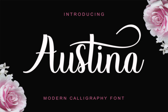 Print on Demand: Austina Script & Handwritten Font By gatype