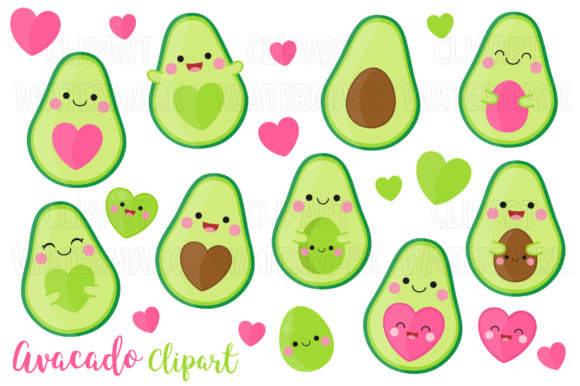Avocado Clipart Graphic Illustrations By magreenhouse