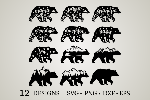 Mama Bear Graphic Crafts By Euphoria Design