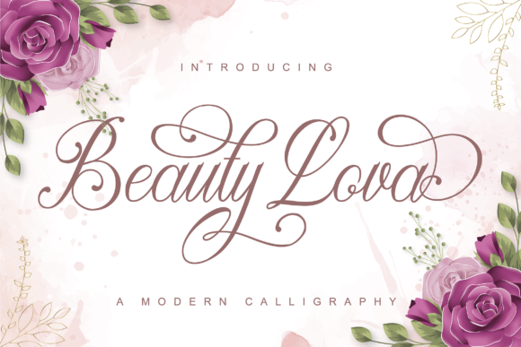 Print on Demand: Beauty Lova Script & Handwritten Font By ToniStudio