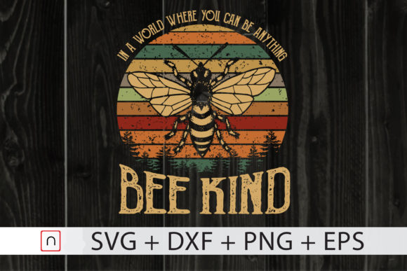 Print on Demand: Bee Kind Grafik Druck-Templates von Novalia