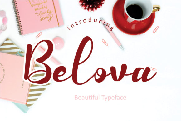 Print on Demand: Belova Script & Handwritten Font By MualanaDesign