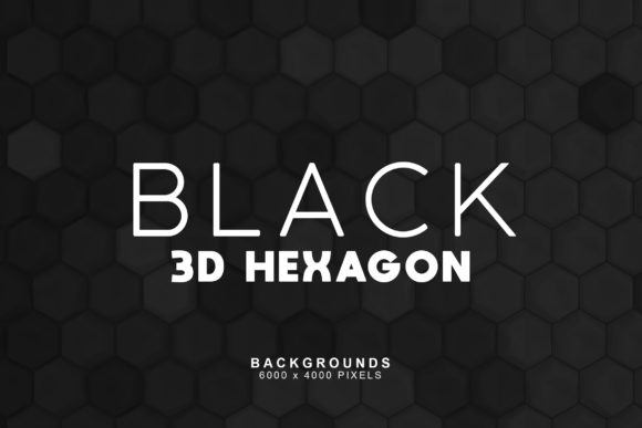 Print on Demand: Black Hexagon Backgrounds Graphic Backgrounds By ArtistMef