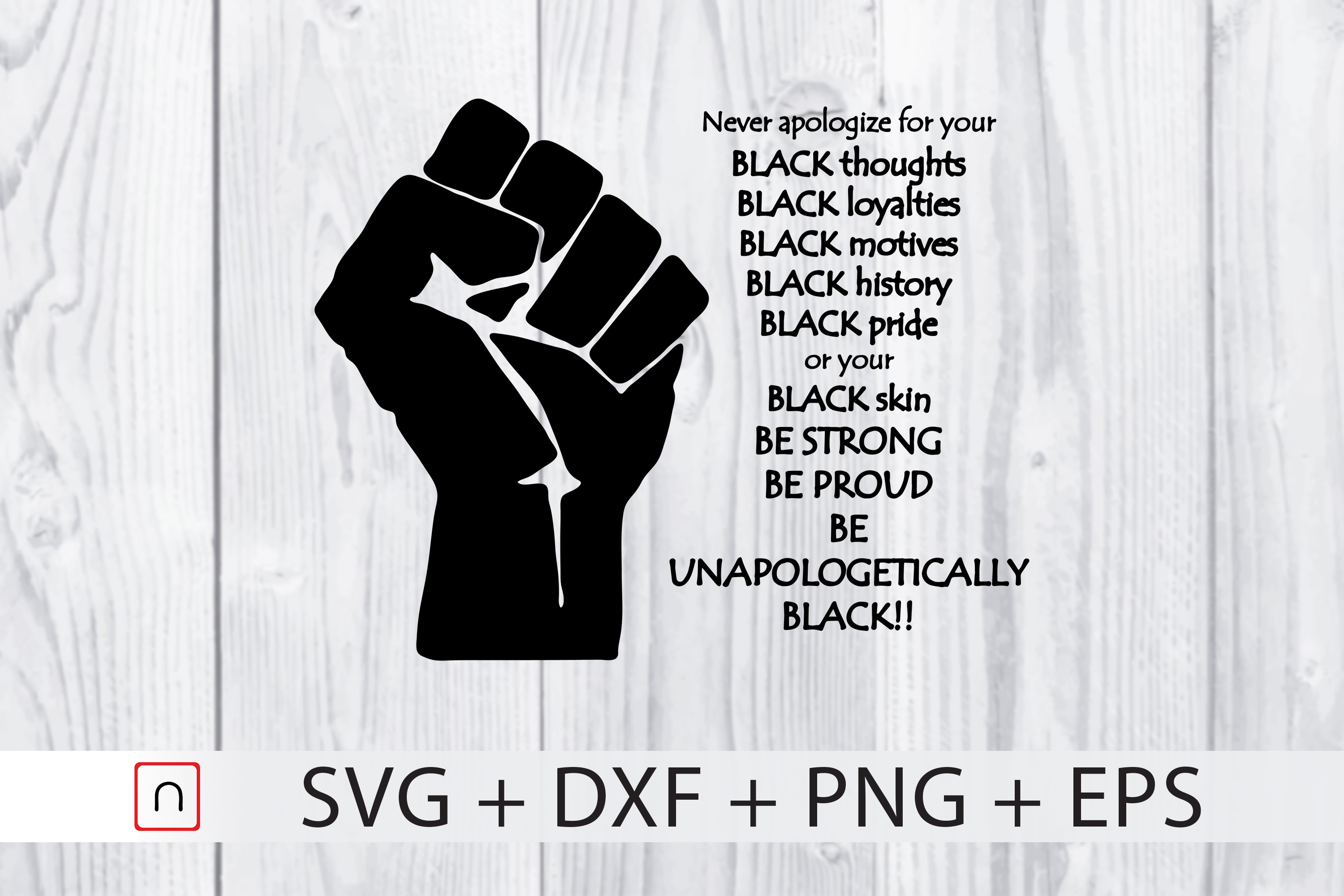 Download Free Black History Be Proud Black History Graphic By Novalia for Cricut Explore, Silhouette and other cutting machines.