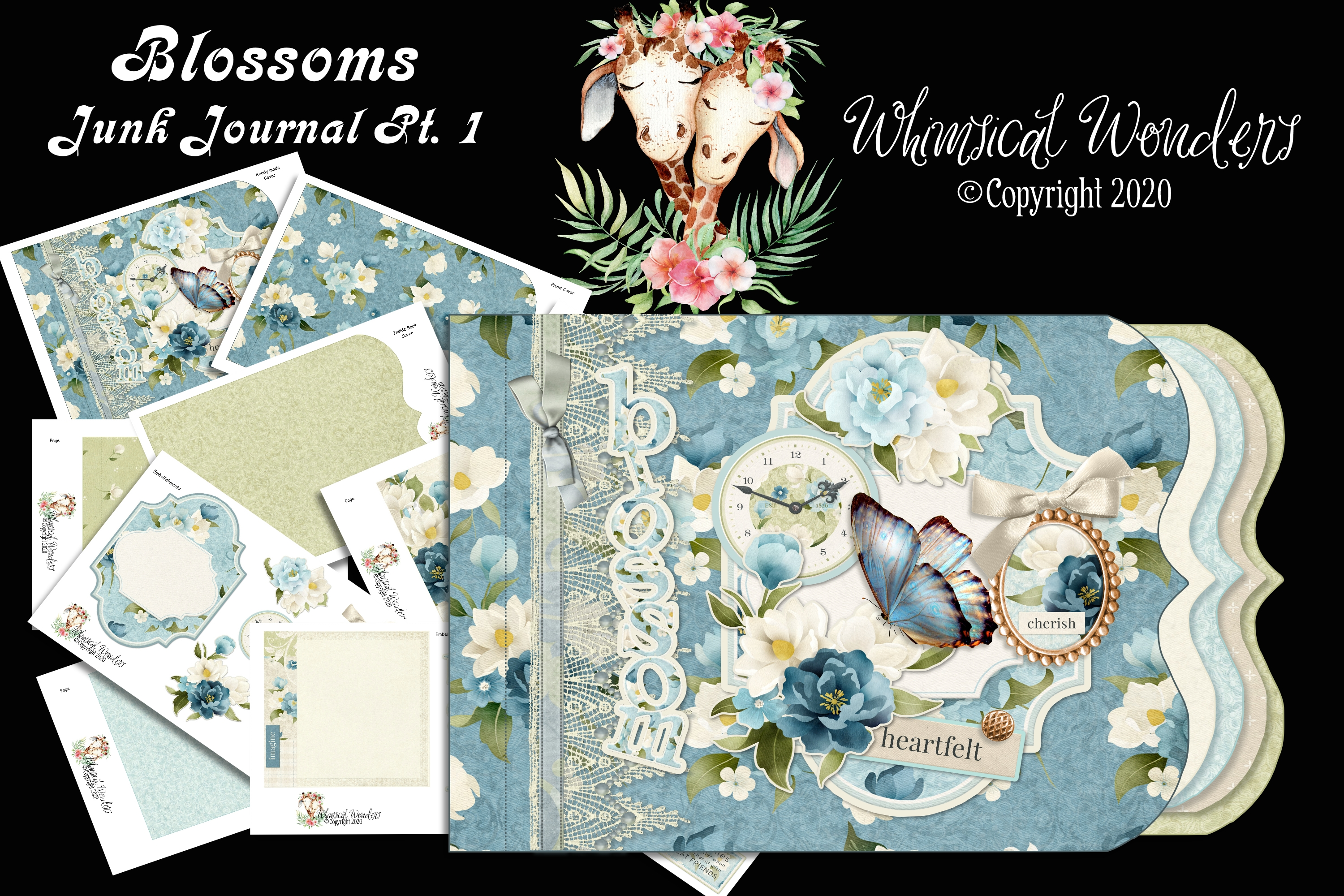 Download Free Blossoms Junk Journal Pt 1 Graphic By Wwdpaulymac2020 Creative Fabrica SVG Cut Files