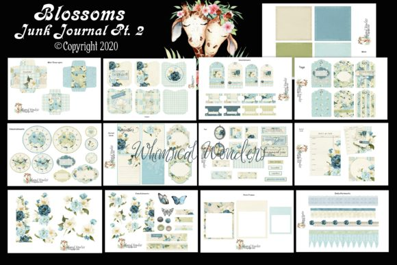 Blossoms Junk Journal Pt.2 Graphic Crafts By WWDPaulyMac2020