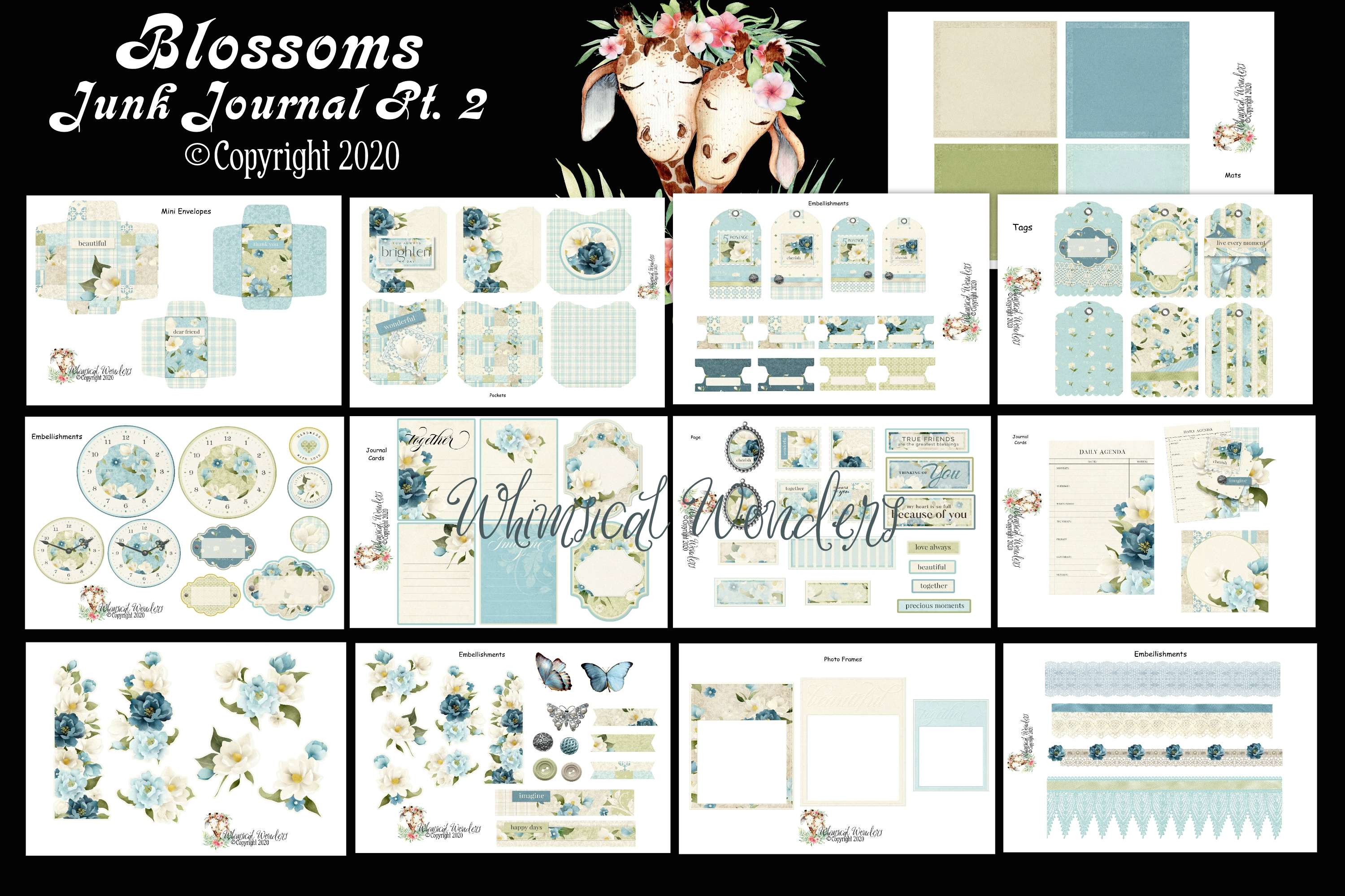 Download Free Blossoms Junk Journal Pt 2 Graphic By Wwdpaulymac2020 Creative for Cricut Explore, Silhouette and other cutting machines.