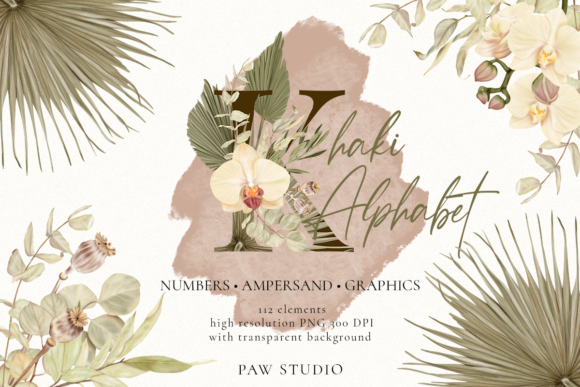 Print on Demand: Boho Alphabet Numbers Letters Graphics Graphic Illustrations By PawStudio