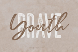 Print on Demand: Brave Youth Script & Handwritten Font By Wandery Supply