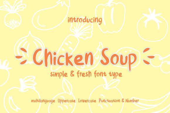 Print on Demand: Chicken Soup Display Font By creativework69