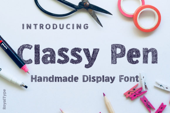 Print on Demand: Classy Pen Display Font By Royaltype