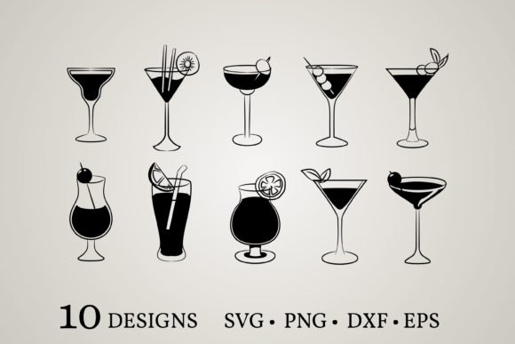 Cocktail Bundle Graphic Print Templates By Euphoria Design