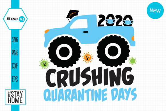 Download Free Crushing Quarantine Days Graphic By All About Svg Creative Fabrica for Cricut Explore, Silhouette and other cutting machines.