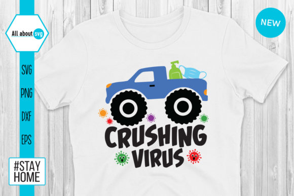 Download Free Crushing Virus Funny Virus Graphic By All About Svg Creative for Cricut Explore, Silhouette and other cutting machines.