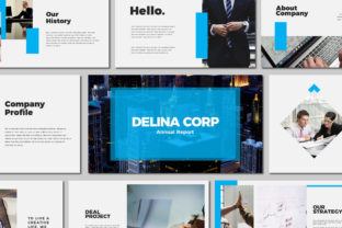 Print on Demand: Delina Business - Keynote Templates Graphic Presentation Templates By Amarlettering