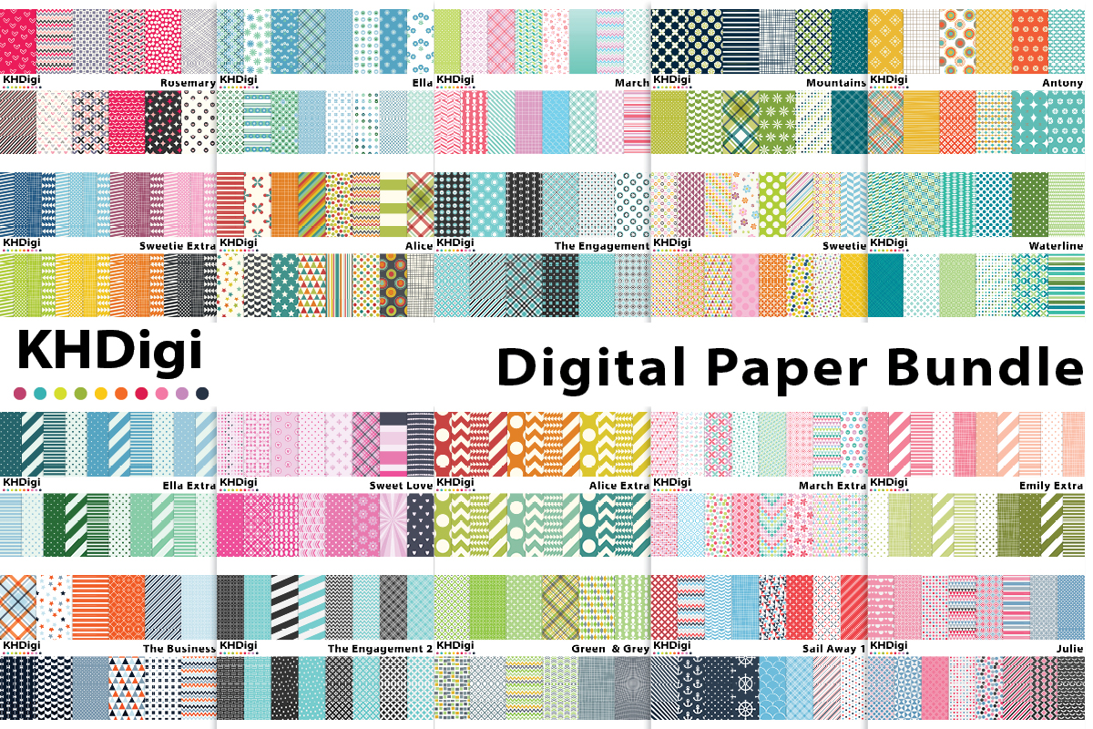 Download Free Digital Paper Value Bundle Bundle Creative Fabrica for Cricut Explore, Silhouette and other cutting machines.
