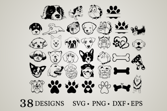 Dog Bundle Graphic Print Templates By Euphoria Design