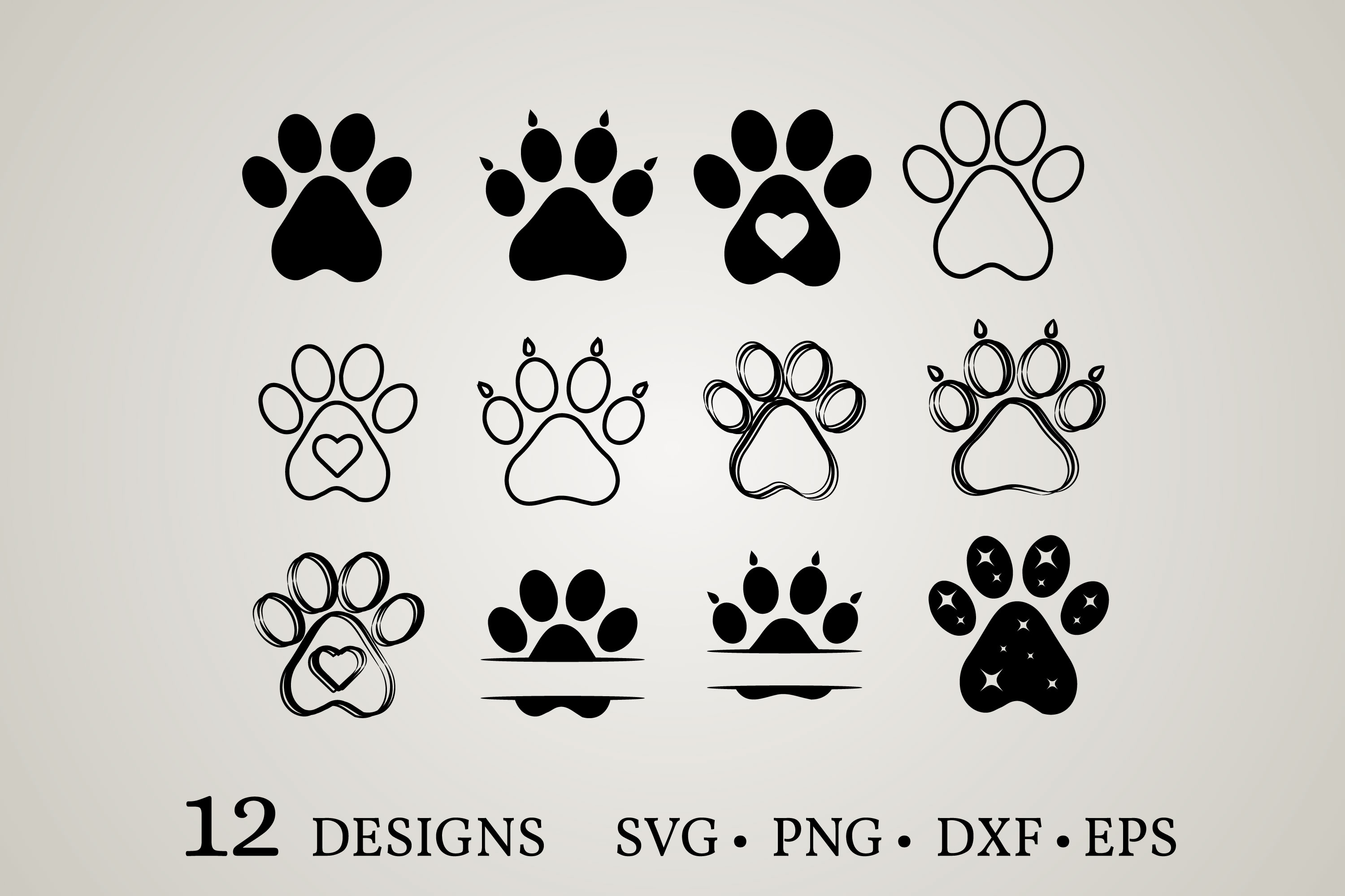 Download Free Dog Paw Bundle Graphic By Euphoria Design Creative Fabrica for Cricut Explore, Silhouette and other cutting machines.