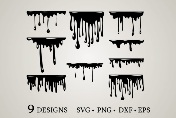 Download Free 1 Dripping Fonts Svg Designs Graphics for Cricut Explore, Silhouette and other cutting machines.