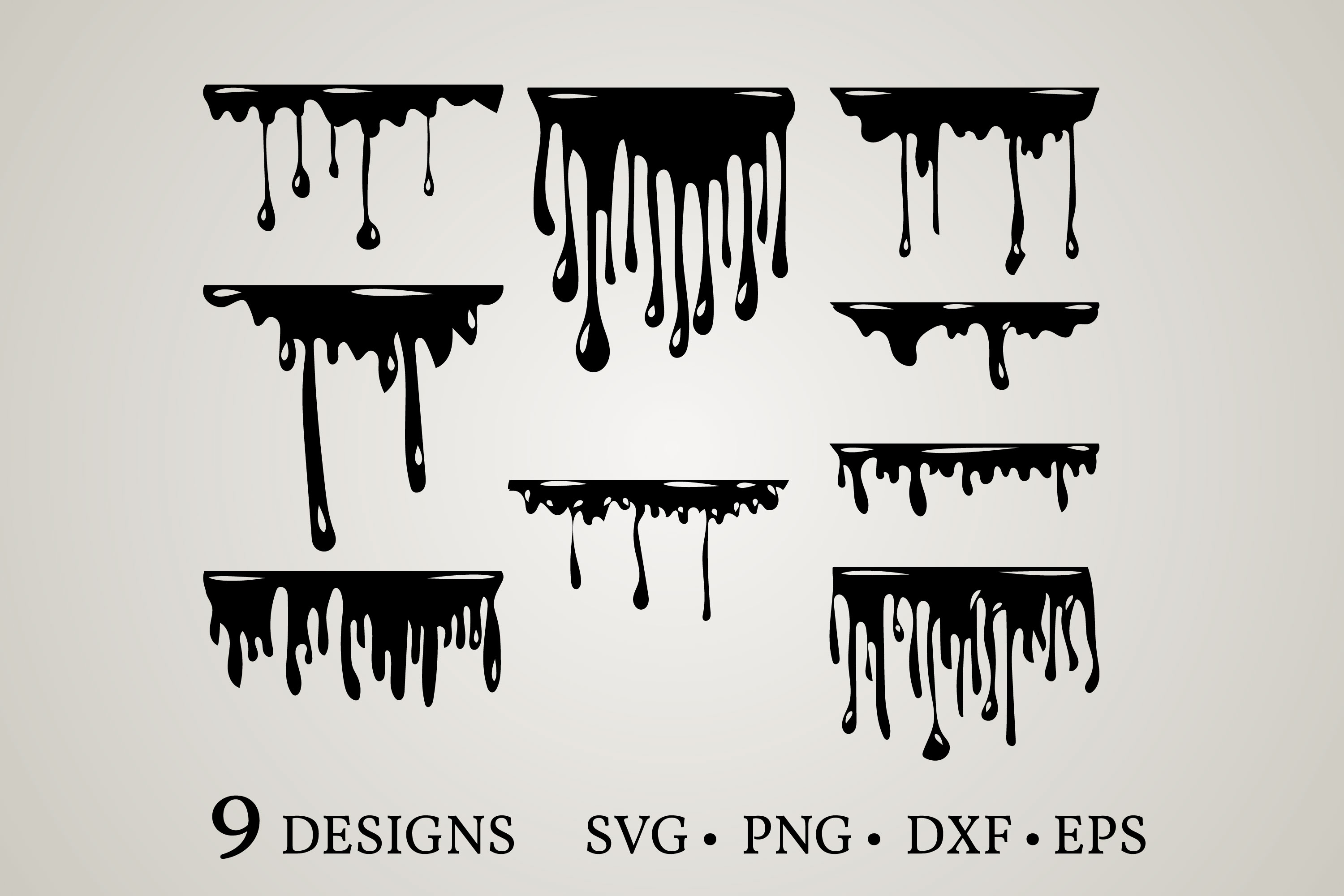 Download Free Dripping Borders Graphic By Euphoria Design Creative Fabrica for Cricut Explore, Silhouette and other cutting machines.