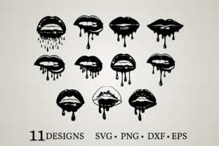 Dripping Lips Bundle Graphic Crafts By Euphoria Design