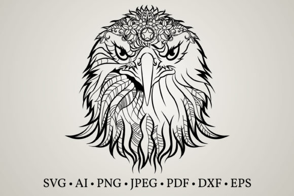 Eagle Silhouette Graphic Crafts By Euphoria Design