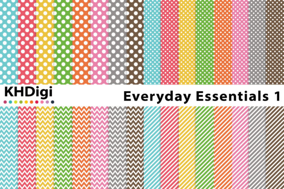 Download Free Everyday Essentials Digital Paper Graphic By Khdigi Creative Fabrica for Cricut Explore, Silhouette and other cutting machines.