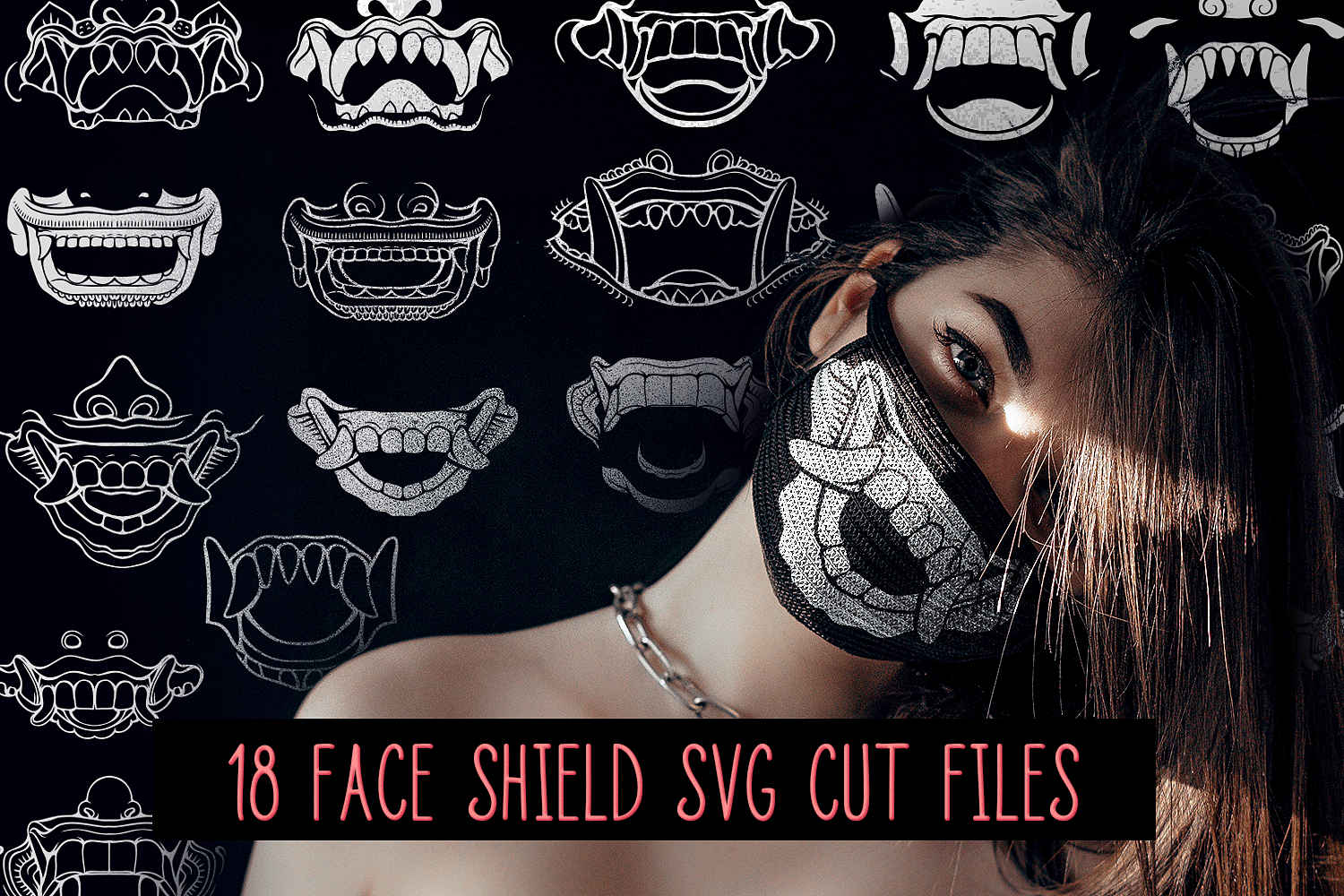 Download Free Face Masks Files Pack Graphic By Craft N Cuts Creative Fabrica for Cricut Explore, Silhouette and other cutting machines.