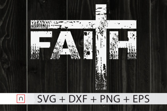 Print on Demand: Faith Cross Graphic Print Templates By Novalia