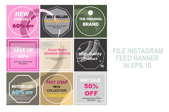 Feed Banner Design Grunge Style Graphic Graphic Templates By Koes Design