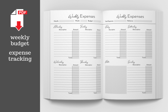 Download Free Financial Budget Planner Graphic By Kdp Template Designs SVG Cut Files