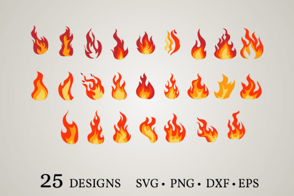 Fire Clipart Bundle  Graphic Print Templates By Euphoria Design