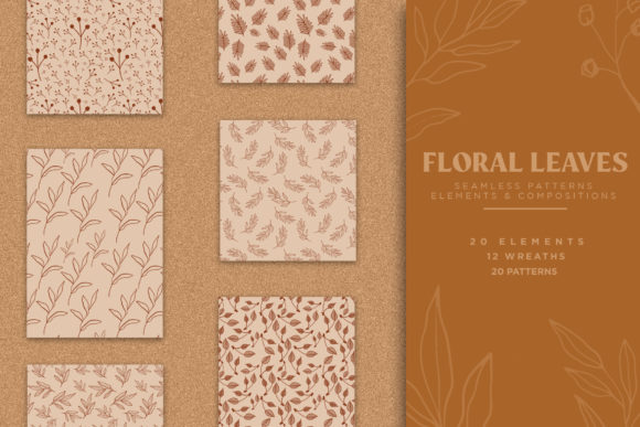 Print on Demand: Floral & Leaves Seamless Patterns Graphic Patterns By pixelhivepro