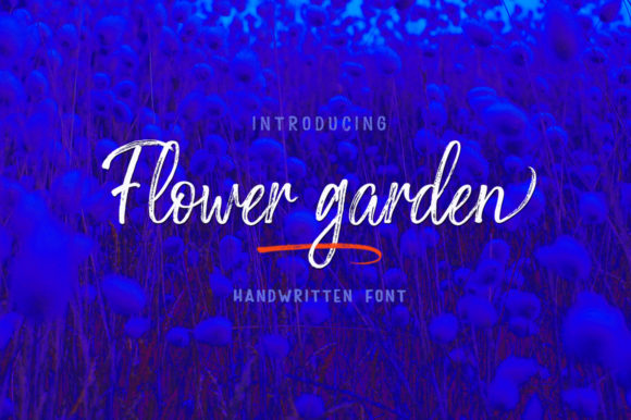 Print on Demand: Flower Garden Script & Handwritten Font By Stripes Studio