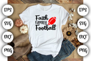 Download Free Football Mom Faith Family Football Graphic By Design Store for Cricut Explore, Silhouette and other cutting machines.