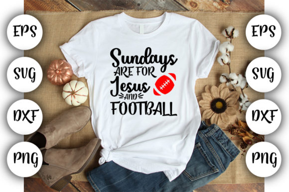 Download Free Football Mom Sundays Are For Jesus Graphic By Design Store for Cricut Explore, Silhouette and other cutting machines.