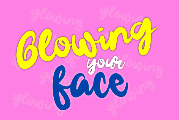 Download Free Gelowing Font By Mozyenstudio Creative Fabrica for Cricut Explore, Silhouette and other cutting machines.