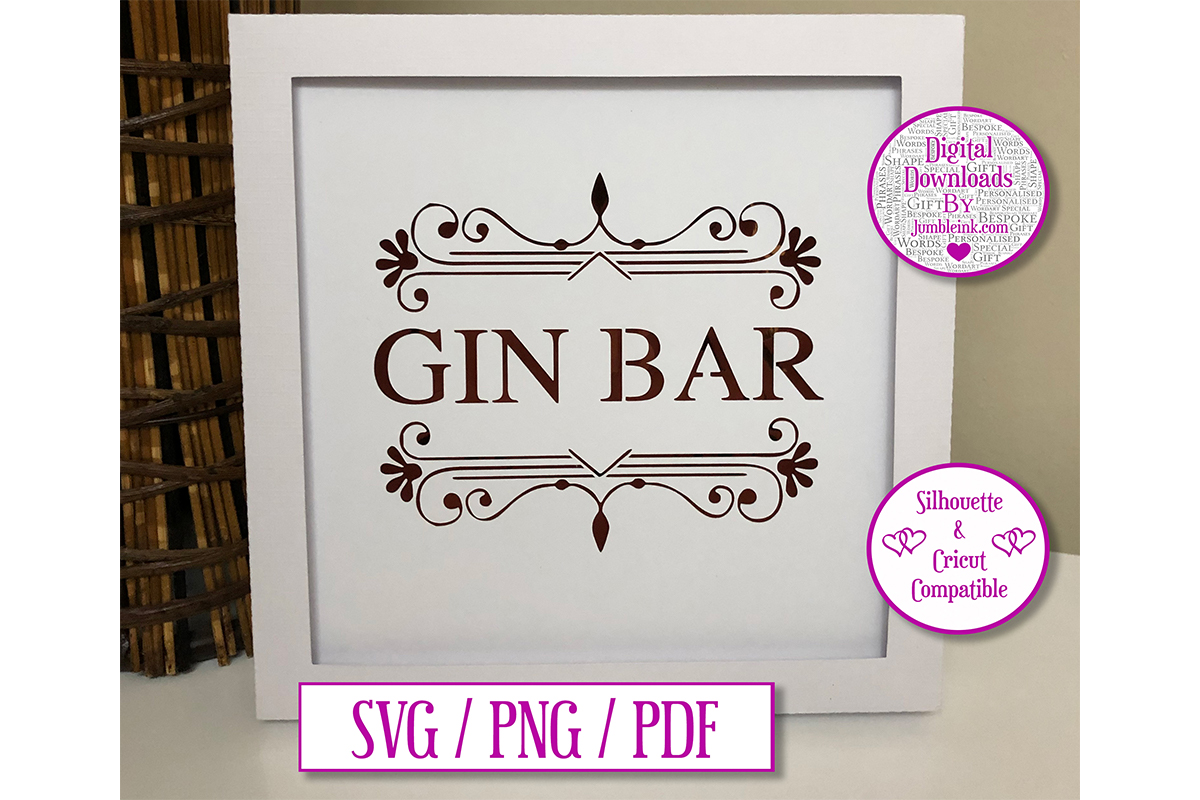 Download Free Gin Bar Paper Cut 3d Image Graphic By Jumbleink Digital for Cricut Explore, Silhouette and other cutting machines.