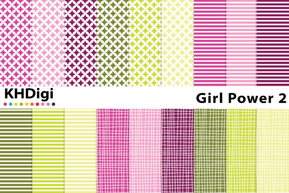 Download Free Girl Power 2 Digital Paper Graphic By Khdigi Creative Fabrica for Cricut Explore, Silhouette and other cutting machines.