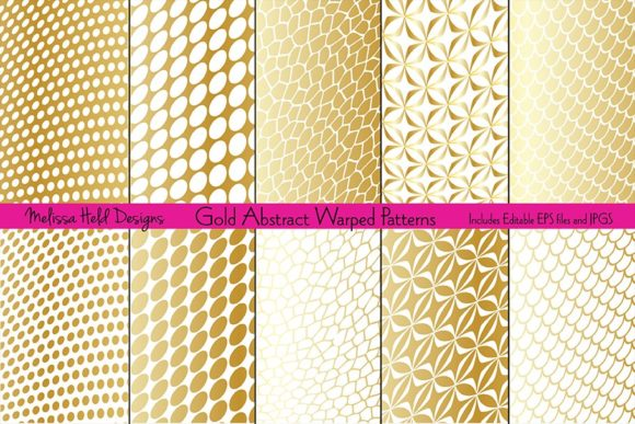 Download Free Gold Abstract Warped Patterns Graphic By Melissa Held Designs for Cricut Explore, Silhouette and other cutting machines.