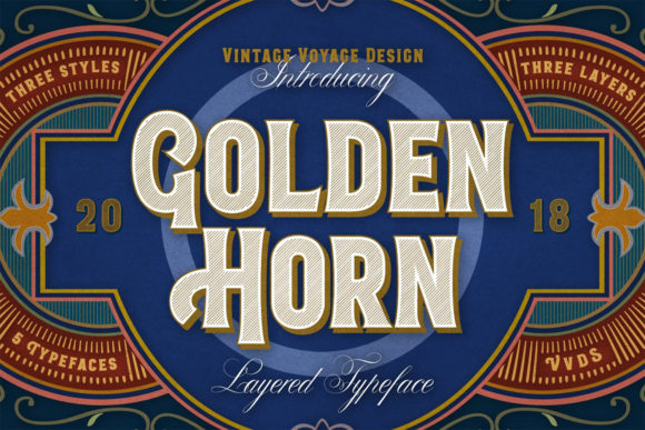 Print on Demand: Golden Horn Display Font By vintagevoyageco