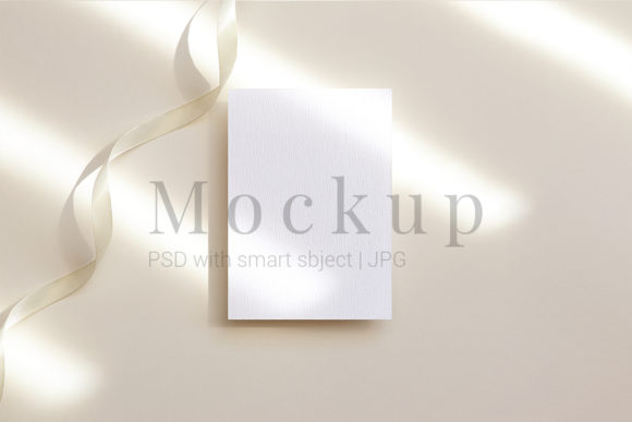 Download Free Greeting Card Card Mockup Graphic By Pawmockup Creative Fabrica for Cricut Explore, Silhouette and other cutting machines.
