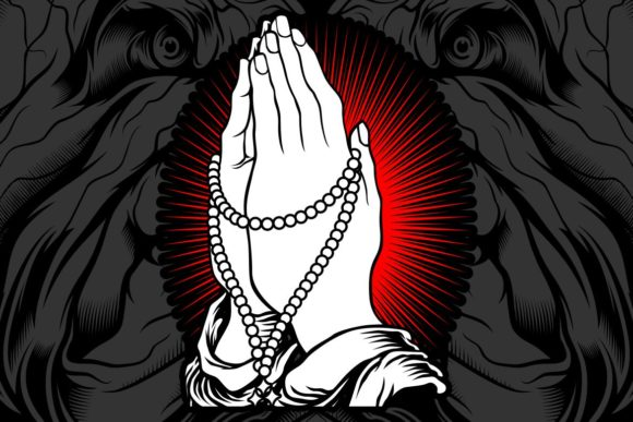 Download Free Hand Praying Draw Graphic By Epic Graphic Creative Fabrica SVG Cut Files