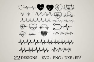 Heartbeat Bundle Graphic Crafts By Euphoria Design